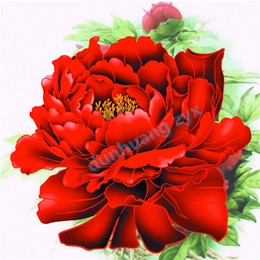 Diy diamond painting cross stitch flower red peony crystal full round drill set unfinished diamond mosaic Room free shipping