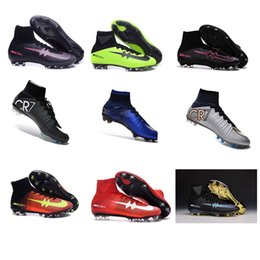 Wholesale 2016 New Cristiano Ronaldo FG Soccer Cleats Sport Men Football Boots High Ankle ACC Firm Ground Soccer Shoes