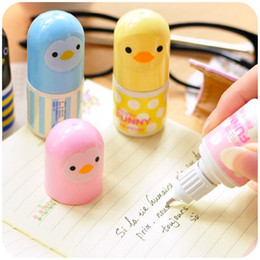Wholesale Random Colors Small Animal Duck Mini Correction Fluid Kids Gift Stationery Cute Correction Tape