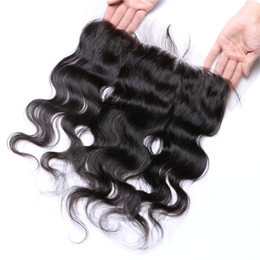 quality 8A lace frontal closure 13x4 Brazilian hair closure natural black full body wave lace frontal closure Brazilian hair closure frontal
