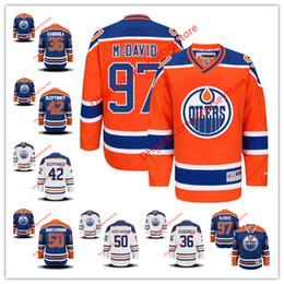 Wholesale 36 Drake Caggiula Anton Slepyshev Jonas Gustavsson Connor McDavid Jersey NHL Edmonton Oilers Jerseys