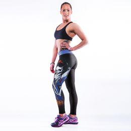 Wholesale Euro Style black milk sexy women skull princess apple D digital printing high waist running fitness sport leggings Pants YT2008