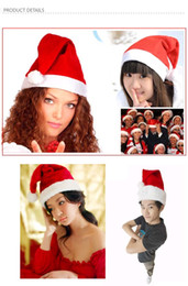 Wholesale Cheap Christmas Hats Wholesale - Cheap Christmas Hats Red Adults Chirldren Christmas Cosplay Hats New Year Decoration Christmas Decorations Cloth Hats Santa Clause