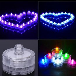 Submersible Led Tea Light Underwater Waterproof Tealight Wedding Party Vase Candle Wedding Birthday Party Decoration Indoor Led Night Lights