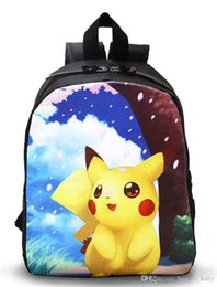 Acheter en ligne Enfants enfants sacs à bandoulière-Hot Sale Poke Pikachu Sacs à dos enfants Enfants Polyester Cartoon Sacs à bandoulière unisexe Garçons Filles scolaires Sacs