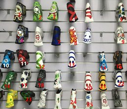 Wholesale customized fashion brand Golf headcover golf putter headcover top quality PU Golf headcover with colors putter headcover