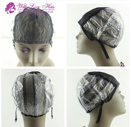 glueless lace wig caps for making wigs stretch lace with adjustable straps back weaving cap black color