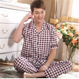 Wholesale Men s Pajamas Summer Mens Pyjamas Cotton Bamboo Fiber Women Lounge Couples Pajamas Set Plus Size XL