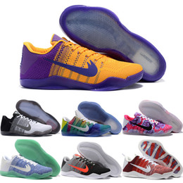 Wholesale Kobe XI Elite Low Basketball Shoes Men 2016 Retro KB 11 Boots High Quality Sneakers Cheap Sports Shoes Free Shipping Size 7-12