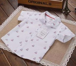 Wholesale Boys Shirts Child Shirt Short Sleeve T Shirts Kids Tshirt Tee Shirts Summer Cotton Shirts Children Clothes Kids Clothing Ciao C24139