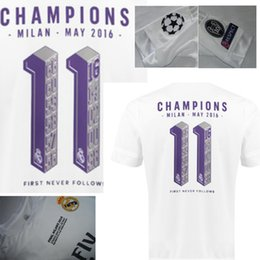 Wholesale Real Madrid UCL Final champion jersey with La Undecima printing cup Commemorative Edition white soccer jersey