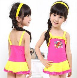 Wholesale Swimsuits For Baby Cartoons - Kids Swimwear For Girls One Piece Cartoon Cute Baby Girls Bikini Baby Swimsuit Princess Swim Clothing
