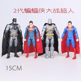 Wholesale Batman VS Superman Captain PVC Action Figure Superhero Figurine Toys Joint Moveable Collectible Toy cm
