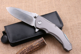 Wholesale 2016 newer lion king HRC D2 TC4 titanium handle Tactical Hunting Knife Pocket Survival Fixed Knives gift knife
