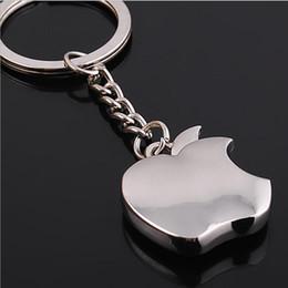 Wholesale Apple Key Chain Classic Novelty Souvenir Metal Apple Keychain Creative Gifts Key Ring Trinket for Men Women Accept LOGO