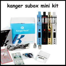 1:1 clone Kanger Subox Mini Starter Kit OCC RBA Coil Subtank 50w Mini KBOX Variable Wattage Box Mods E cigs kangertech vaporizer vape