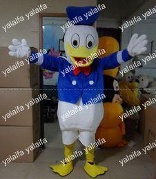Wholesale Rapid production customization Women s Men s EVA Material Helmet blue Donald Duck Mascot Costumes walking cartoon Apparel