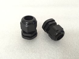 Wholesale Plastic Nylon IP68 Waterproof Connector PG7 PG9 PG11 PG13 PG16 PG19 PG21 Black Cable Glands Joints Adapter