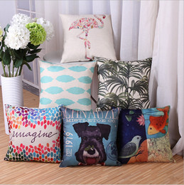 Wholesale Digital printing series of abstract pictures of dogs cm cm cotton pillow cover sofa cushion car cushion covers