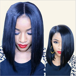 Short Bob Human Hair Wigs For Black Women New Bob Hairstyle Indian Virgin Hair Straight Bob Lace Front Wigs Glueless Full Lace Wigs