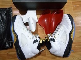 Wholesale Top Quality Air Retro Olympic DS Gold Medal Black White Basketball Shoes Men Women size With Box