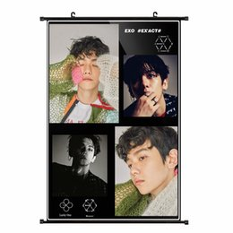 Wholesale Youpop KPOP EXO Album K M EX ACT Monster Lucky One BAEKHYUN Non woven Poster Wall Hanging Painting Wall Picture Flip Chart