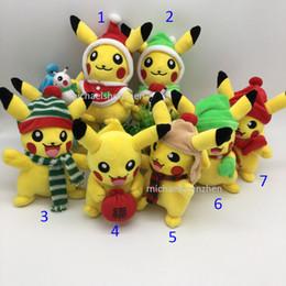 Wholesale 10 Style Christmas Poke go Pikachu Plush dolls toys Inch cm EMS children Pikachu Charmander Jeni turtle Plush dolls toy B001