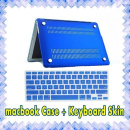 Matte Hard Macbook Case + Keyboard Skin Cover Film Protective Case for MacBook Air retina Pro 11 12 13 15 inch