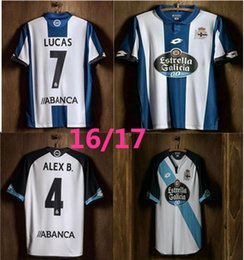customize 16 17 new Deportivo La Coruna jersey 2016 DEPORTIVO LA CORUNA Home Away camisetas futbol camisa de futebol LUCAS football Shirts