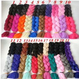 Synthetic Braiding Hair Hair Bulk 165g Folded 32inch Ombre Two color Kanekalon Jumbo braids Twist Synthetic Hair Extensions
