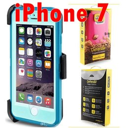 Wholesale For iphone plus case Heavy Duty Rugged armor i7 Defender Combo Cases For iPhone Cover with Belt Clip Retail Package Available