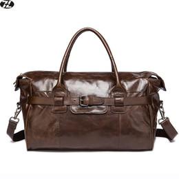 vraiment des hommes vachette sac de voyage en cuir véritable sac à main d'affaires hommes messager sac polochon hommes bruns épaule Crossbody à partir de sacs polochons marron fabricateur