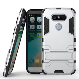 FOR LG G4 G5 G6 Q6 Q8 G7 ThinQ STYLO 4 K8 2018 EU VERSION Hybrid KickStand Anti Shock Defender Armor Case TPU+PC cover 650PCS