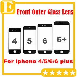 50PCS Front Outer Glass Lens with OCA Film Pre-assemblyed for Apple iPhone 4 4S 5 5S 5C 6G 6 Puls Refurbishment parts