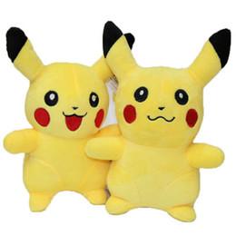 Wholesale EMS Pikachu Plush dolls cm inch Poke plush toys cartoon poke Stuffed animals toys soft Christmas toys best Gifts High Quality