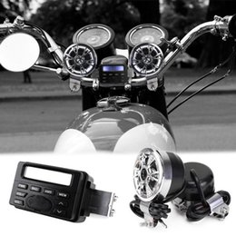 Wholesale car dvd Motorcycle Sound Audio Radio System Handlebar V Full band FM Stereo Speakers ATV Bike With mm AUX jack to link MP3 device