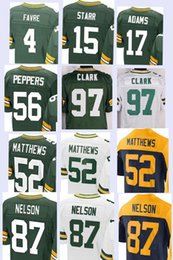 Wholesale Men s Elite Jerseys Brett Favre Bart Starr Adams Julius Peppers Clay Matthews Jordy Nelson Stitching Embroidery jersey top quality