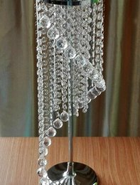 Hot Sale Trumpet Shaped acrylic Crystal Vase Flower Vases