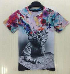 Wholesale Mikeal Cartoon t shirt men women Fashion d tshirt printed Artist painting T shirt Hip hop t shirt streetwear T62