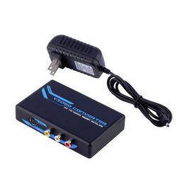 S audio vidéo hdmi à vendre-S-Vidéo Composite RCA vers HDMI Convertisseur Adaptateur AV - Audio R / L - Scaler 1080P Vente en gros