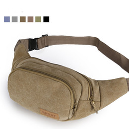 Wholesale Practical benefits men small worn canvas bags outdoor sports running chest pocket bag Climbing gym bag
