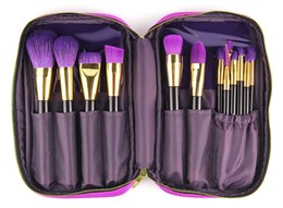 Wholesale 2016 Foreign trade quick sell hot brand authentic make up TZ blanca brush purple high grade wool professional makeup set brush