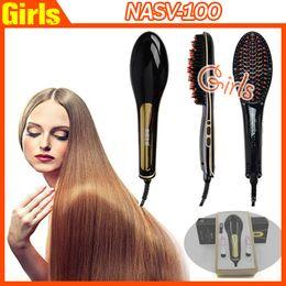 Wholesale 100 Authentic NASV Brush Comb Beautiful Star Brush Comb Beautiful Star NASV Hair Straightener Brush Tool Drop shipping