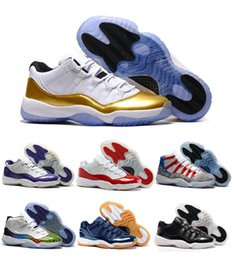 Wholesale Sale Retro Navy Blue Gun Low Basketball Shoes GS Space Jam Ceremony PE Retro XI Concord Sport Trainers Shoes