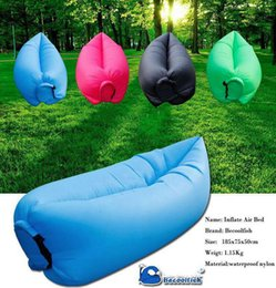 Wholesale 50pcs Lamzac Hangout Light Weight Inflatable Sleeping Bag Large Bean Bag Inflatable Lounge Chair Comfortable Seat Sofa Air Sofa sleep Bag