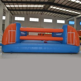 Aoqi inflatables hot sale interactive inflatable game cheap price indoor sport equipment boxing and pillow fight game for sale