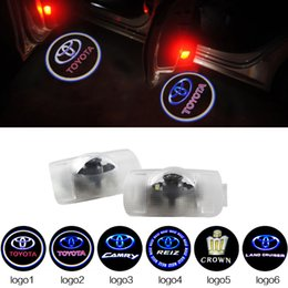 Wholesale 2pcs LED Car Door Courtesy Lights Laser Projector LED Logo Ghost Shadow Light For TOYOTA Camry Reiz Camry Crown Land Cruiser