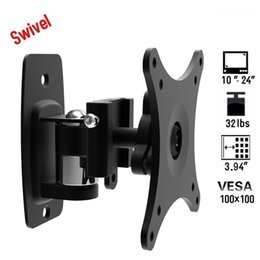 Wholesale USA Universal Adjustable Free View quot LBS Swivel Tilt LCD LED Plasma TV Wall Mount Stand Bracket