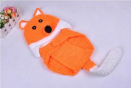 Compra Online Cute baby accesorios de fotografía-Infantil del bebé recién nacido del traje de punto Fox lindo del ganchillo gorro tejido a mano de la foto del animal apoyo de la fotografía fijado para el SY17 niños
