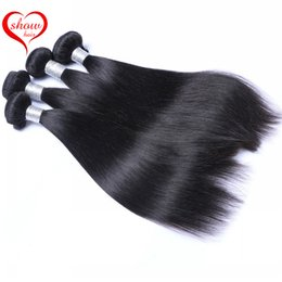 Brazilian Peruvian Indian Malaysian Cambodian Straight Hair Weave Bundles Best Quality Virgin Human Hair Extensions Natural Color 1B